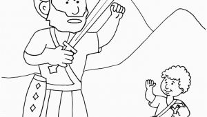 Preschool David and Goliath Coloring Page Goliath and David the Good Guy Kidmin