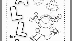 Preschool Fall Coloring Pages Fall Coloring Page for Childrens Church 2019