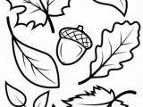 Preschool Fall Leaves Coloring Pages Fall Leaves and Acorn Coloring Page From Fall Category Select From