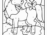 Preschool Farm Animal Coloring Pages Color by Number Farm Animal Horse