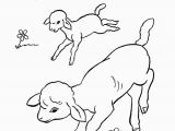 Preschool Farm Animal Coloring Pages Farm Animal Coloring Page Running Lambs