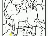 Preschool Farm Animal Coloring Pages Farm Color by Number Horse 231×300 Farm Animal Color by