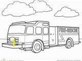 Preschool Fire Truck Coloring Page Fire Truck Worksheet