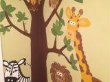 Preschool Wall Murals Jungle Wall Mural Hand Painted =]