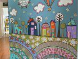 Preschool Wall Murals More Fence Mural Ideas Back Yard