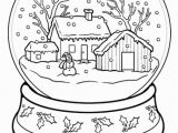 Preschool Winter Coloring Pages Snow Globe Coloring Page