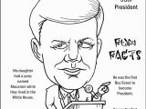 President Coloring Pages with Facts John F Kennedy Coloring Page Coloring Pages Pinterest