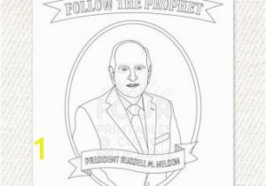 President Russell M Nelson Coloring Page Kids Planner Kids Schedule Visual Schedule for Kids Kids