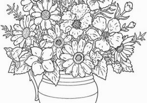 Pretty Coloring Pages Of Flowers for Coloring Beautiful Cool Vases Flower Vase Coloring Page