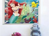Princess and the Frog Wall Mural Funny Mouse Hole Kitchen Food Bakery Wall Stickers Creative