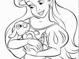 Princess Ariel Coloring Pages to Print Disney Princess Coloring Pages Ariel In A Dress Coloring
