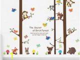 Princess Bedroom Wall Mural Stencil Kit Amazon Owl Monkey Wall Sticker forest Big Tree Animal