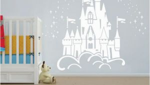 Princess Castle Wall Mural Floating Disney Fairy Castle Wall Sticker Vinyl Decal Wall