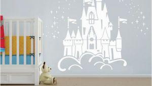 Princess Castle Wall Mural Floating Disney Fairy Castle Wall Sticker Vinyl Decal Wall