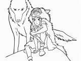 Princess Mononoke Coloring Pages Princess Mononoke Coloring Page Princess Mononoke