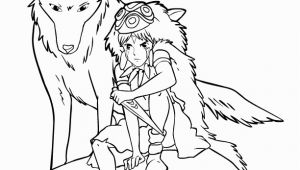 Princess Mononoke Coloring Pages Princess Mononoke Coloring Page Princess Mononoke