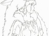 Princess Mononoke Coloring Pages Princess Mononoke San Coloring Page