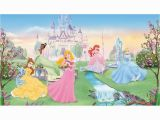 Princess themed Wall Murals Disney Dancing Princesses Prepasted Accent Wall Mural