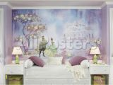 Princess Tiana Wall Mural Princess & Frog Chair Rail Prepasted Mural Wallpaper Mural at