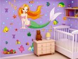 Princess Wall Mural Uk New Design Wall Stickers Window Wall Cartton the Mermaid Princess