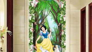 Princess Wall Mural Wallpaper 3d Snow White Princess Flower Arch forest Corridor Entrance