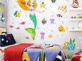 Princess Wall Murals Uk Mermaid Princess Wall Decal Sticker Home Decor Diy Removable Art Vinyl Mural for Kids Room Bathroom Girls Kindergarten Qtb356 Wall Decal Design Wall