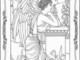 Printable Angel Coloring Pages for Adults Angel Coloring Page