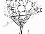 Printable Balloon Coloring Pages It S Party Time Fun Balloon Confetti and Streamer Filled