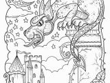 Printable Castle Coloring Pages Fantasy Digital Download Printable Book Adult Coloring