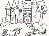 Printable Castle Coloring Pages This Sweet Castle with Princess Unicorn and Frog Was
