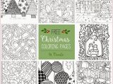 Printable Christmas Coloring Pages for Adults Coloring Book Line Adults Di 2020