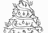Printable Christmas Tree Coloring Pages Drawn Christmas Tree Pretty 11 728 X 1036