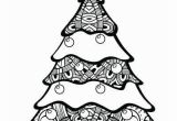 Printable Christmas Tree Coloring Pages Free Printable Christmas Tree Coloring Pages with Images