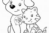 Printable Coloring Pages Dogs and Cats Cat and Dog Coloring Page for Kids Animal Coloring Pages
