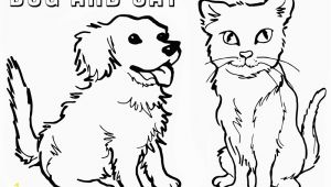 Printable Coloring Pages Dogs and Cats Cat and Dog Coloring Pages