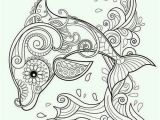 Printable Coloring Pages Dolphin Coloring Detailed