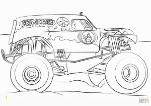 Printable Coloring Pages Monster Truck Best Monster Truck Coloring Pages Vector Drawing Art Library and