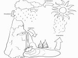 Printable Coloring Pages Of the Water Cycle Activities Water Cycle Coloring Page