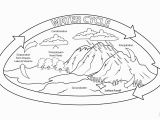 Printable Coloring Pages Of the Water Cycle Water Cycle Coloring Page