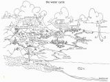 Printable Coloring Pages Of the Water Cycle Water Cycle for Kids Coloring Page Coloring Home