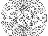 Printable Coloring Pages Yin Yang Geometric