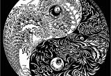 Printable Coloring Pages Yin Yang Lung Fu Yin Yang Tattoo Design