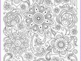 Printable Complex Coloring Pages Pdf Ð¡oloring Page Doodle Flowers Printable Zen Doodle Pdf Zentangle