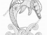 Printable Complex Coloring Pages Pdf Dolphin Coloring Page Adult Coloring Sheet Nautical Coloring