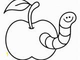 Printable Cornucopia Coloring Page Ausmalbild Tiere Kostenlose Malvorlage Wurm Im Apfel