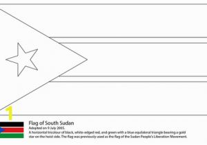Printable Country Flags Coloring Pages Flag Of south Sudan Coloring Page