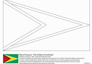 Printable Country Flags Coloring Pages Guyana Flag Coloring Page