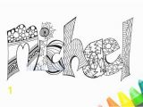 Printable Custom Name Coloring Pages Instant Download – Print and Color Your Name Michael