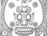 Printable Day Of the Dead Coloring Pages Day Of the Dead Printable Sugar Skull Adult Coloring Page