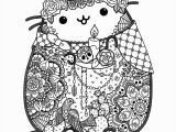 Printable Day Of the Dead Coloring Pages Day Of the Dead Pusheen Fan Art by Lxoetting On Deviantart